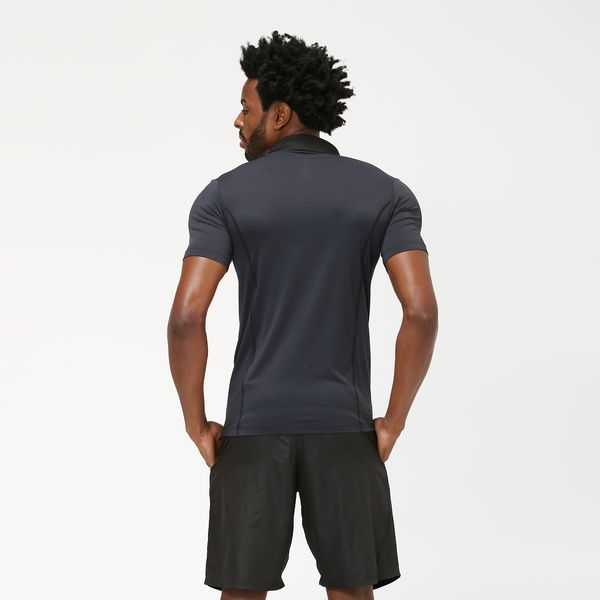 Camiseta Polo Com Proteção Solar UV.LINE Preto