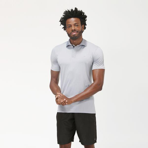 Camiseta Polo Com Proteção Solar UV.LINE Cinza
