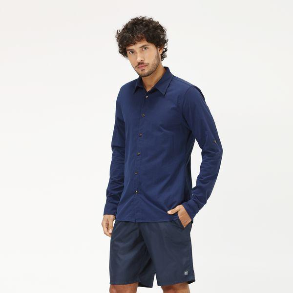 Georgia  Camisa com Proteção Solar UV.LINE Marinho