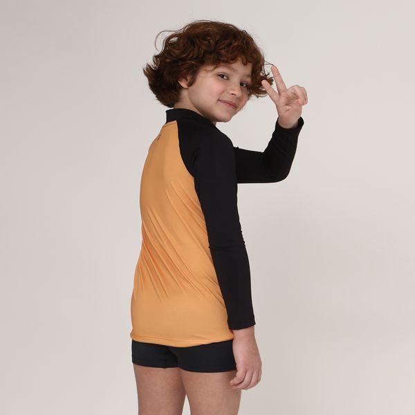 Camiseta Acqua Surf Com Proteção Solar UV.LINE Amarelo Queimado