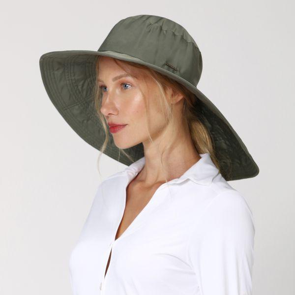 Chapéu Beverly Hills Com Proteção Solar UV.LINE Verde Militar