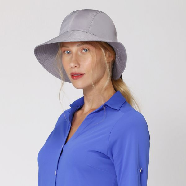 Chapéu San Remo Com Proteção Solar UV.LINE Cinza