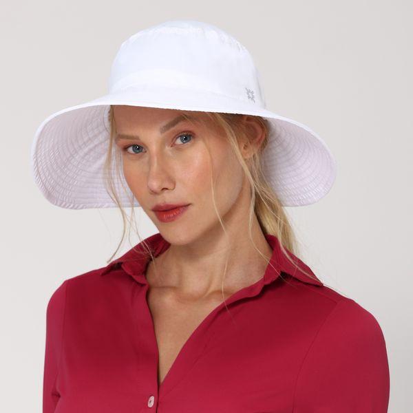 Lyon Chapéu com Proteção Solar UVLINE Branco