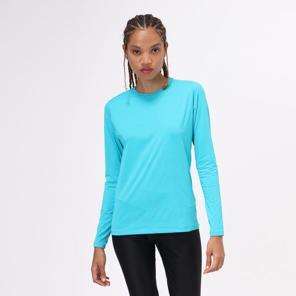Camiseta UVPRO Com Proteção Solar UV.LINE Azul Piscina