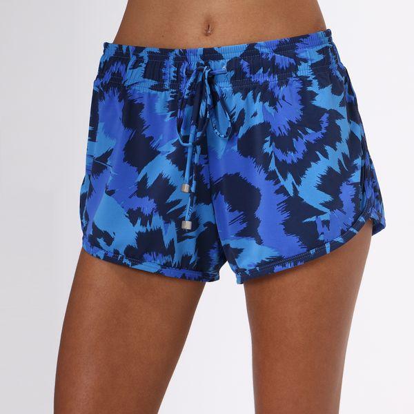 Shorts Fit Com Proteção Solar UV.LINE Estampa Oceano
